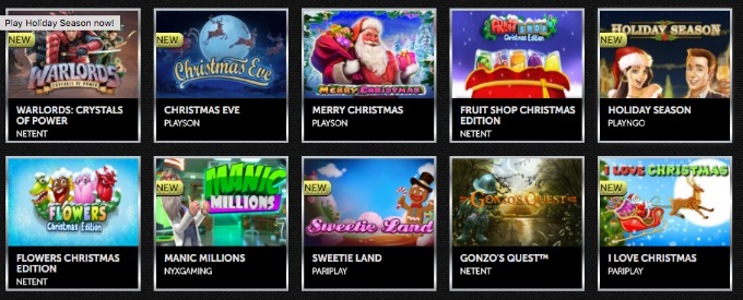 Play over 800 games at Spinson Casino