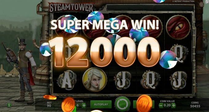 Play Steam Tower slot at Comeon casino