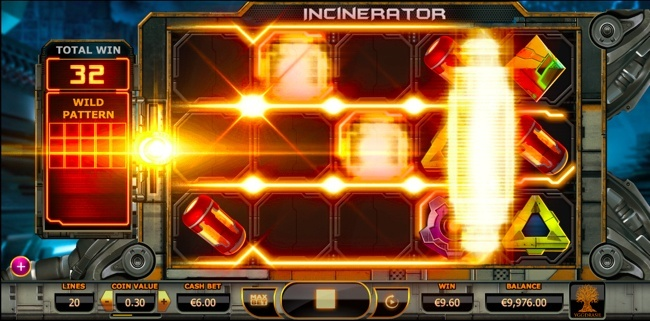 Incinerator slot wild pattern