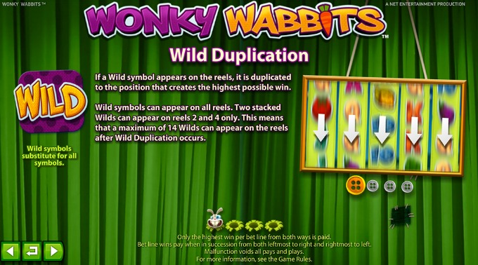 Play Wonky Wabbits at Mr Green casino