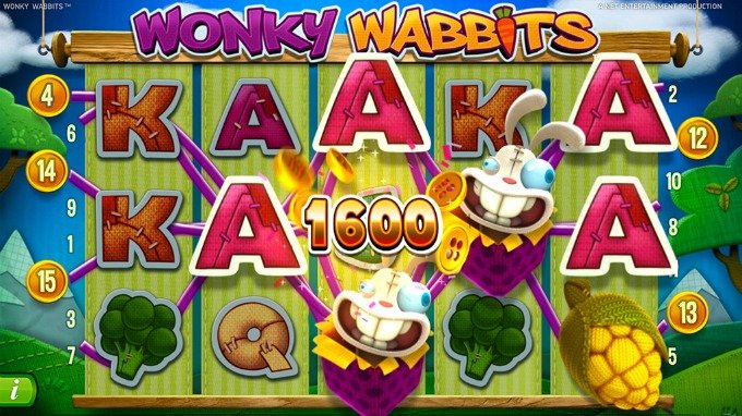 Play Wonky Wabbits at ComeOn casino