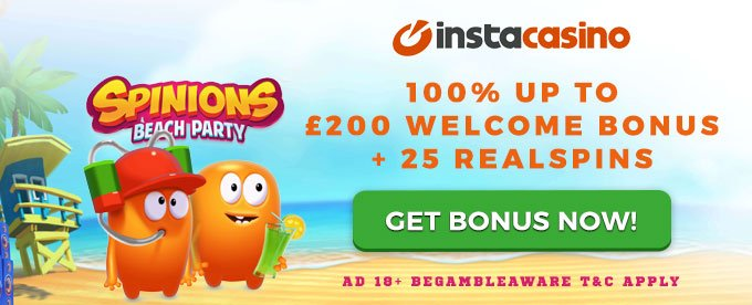 Instacasino - new style and great bonuses