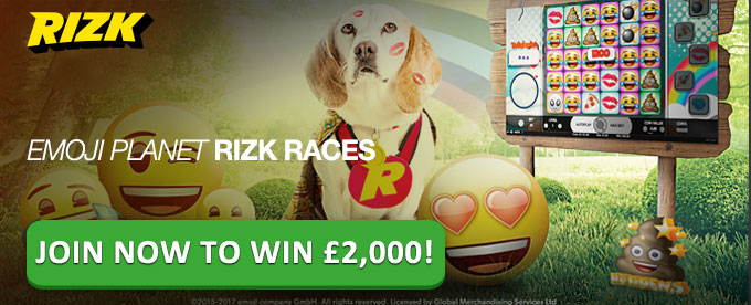 Join Emoji Planet Rizk Race and win up to £2K