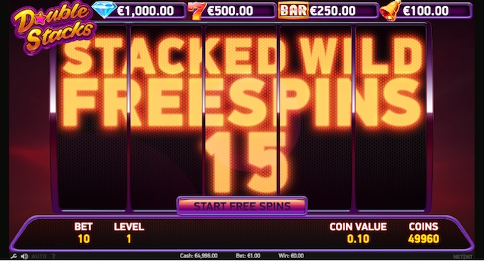Double Stacks slot free spins