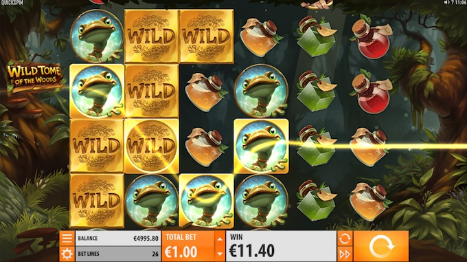 Wild Tome of the Woods Quickspin slot
