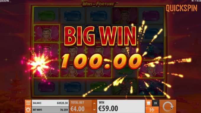 Casinohawks - Wins of Fortune slot preview and bonus